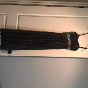 Black prom long sparkly dress
